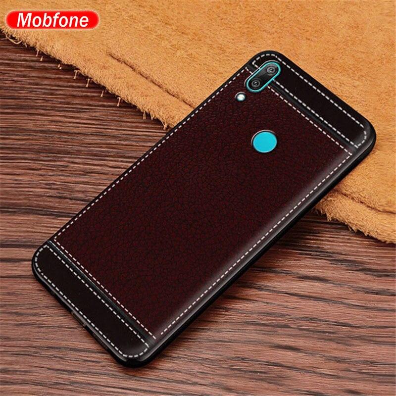Meizu Note 9 Soft Cover Meizu Note 9 Case Leather Texture Soft TPU Phone Back Fundas Capa For Meizu Note 9 Note9 M923Q 6.2''