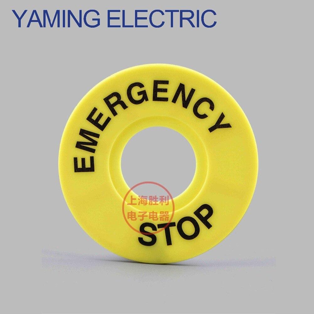 P93 20pcs/Lot 22mm External diameter 60mm Push button Switch Panel Label Frame,emergency stop switch Plastic Sign