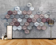 beibehang Fashion decorative painting interior decoration wallpaper 3D retro diamond background wall papers home decor behang