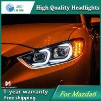 Car Styling Head Lamp Case For Mazda6 Mazda 6 2014 2016 Headlights LED Headlight DRL Lens