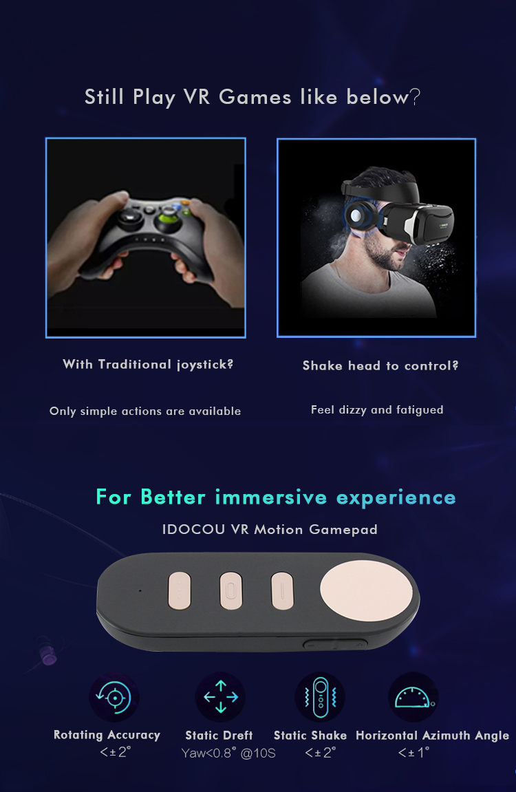 Bluetooth 4.2 VR Remote Motion Controller for Google Daydream with Air Mouse for Android and Windows 7/8/10 Samsung S8/ S8+ 3