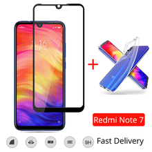 2019 Hot Sale Redmi Note 7 Case with Tempered Glass Screen Protector Xiaomi Redmi Note 7 Pro Glass Full Cover Redmi Note 7 Glass цена