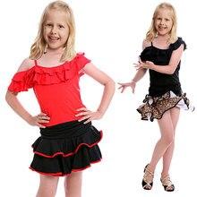 Samba Vestido de Dança de Salão latina Vestido Dança Para Meninas Vestido Da Menina de Ballet Vestido de Baile Latino Dancewear Crianças Traje Do Miúdo Meninas