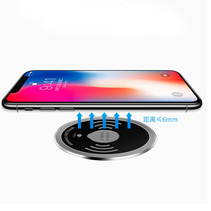 Built in Desktop Device Qi Fast Wireless Charger 15W 10W 7.5W or 5W Quick Charger 3.0 Embedded Caricabatter Tipe C Chargeur 6