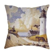 Cojines Vintage estilo europeo algodón Lino Super suave y cómoda almohada cojín hogar Decoración Transat jardin exterior