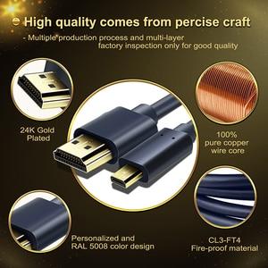 Image 5 - CABLETIME New Arrival kabel Micro HDMI do HDMI dwukierunkowy kabel HDMI 2k * 4k 2.0 HD wysokiej jakości HDMI CL4 do pudełka PS4 C127