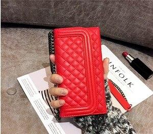 Image 5 - De luxe pliant miroir carte portefeuille en cuir Housse pour iphone XS MAX XR pour iphone 11 12 Pro Max 7 8plus bandoulière sac