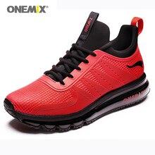Onemix Men Sport Sneakers in Red Outdoor Women Running Athletic Shoe Damping zapatos de hombres Breathable Gym Man Sneaker