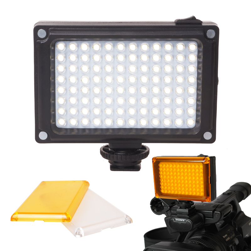 Ulanzi Mini LED Video Light Photo Lighting on Camera Hotshoe Dimmable LED Lamp for Canon Nikon Sony Camcorder DV DSLR Youtube
