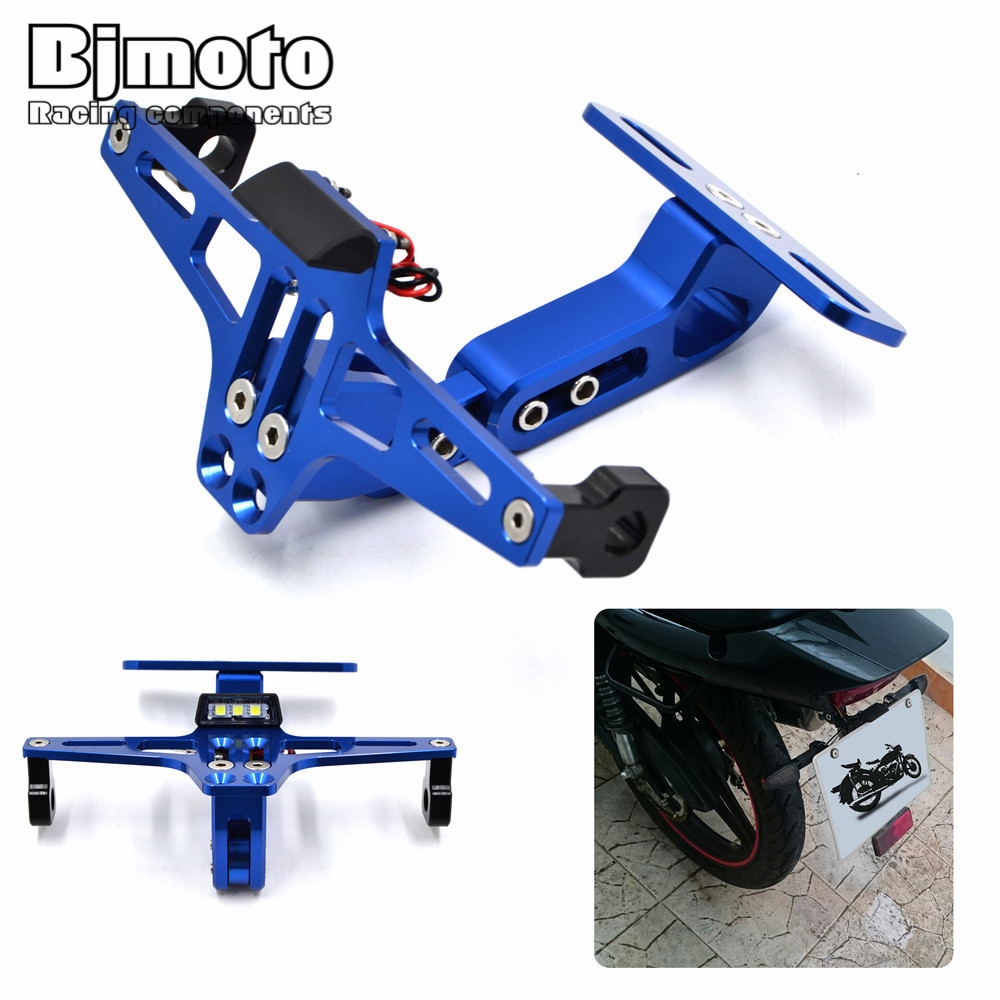nmero de licencia de placa soporte de ngulo ajustable de aluminio moto para yamaha r r r fz fz xj mt mt tmax