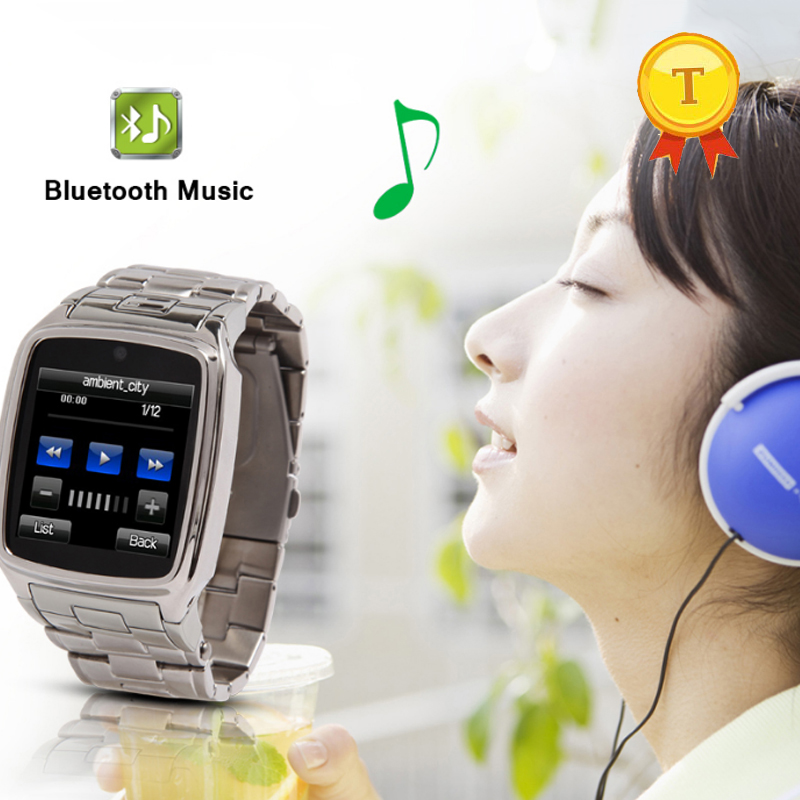 1 54inch touch screen stainless steel belt multi language bluetooth smart watch with vibration alarm sim