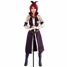 Fairy Tail Anime Erza Scarlet Púrpura Cosplay Disfraces de Halloween Ropa de Fiesta