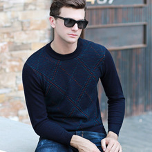 MEI QIU MEI Wool Sweater Men Casual O-neck Pullovers Thick autumn winter size S