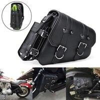 2pcs Universal PU Leather Motorcycle Saddlebag for Harley Sportster for Honda for Suzuki for Kawasaki for Yamaha