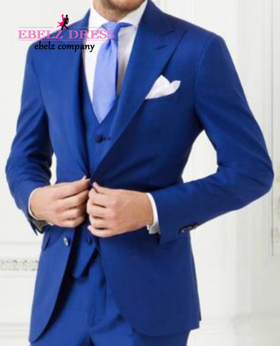 Aliexpress.com : Buy 2015 New Arrival Royal Blue Mens Suit Shiny ...