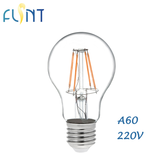 Glass led filament bulb A19/A60 home lights l& E27 LED edison light Clear bulb  sc 1 st  AliExpress.com & Glass led filament bulb A19/A60 home lights lamp E27 LED edison ...