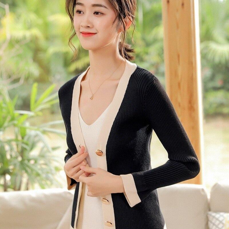 Été cardigan femmes cardigans mujer 2019 coréen à manches longues fem me maxi grande taille noir pull décontracté lâche haut tricoté