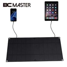 BCMaster Original Portable Solar Panel Battery Charger USB 5V 6W 1.2A for Power Bank Supply Outdoor Travelling For Smart Phones