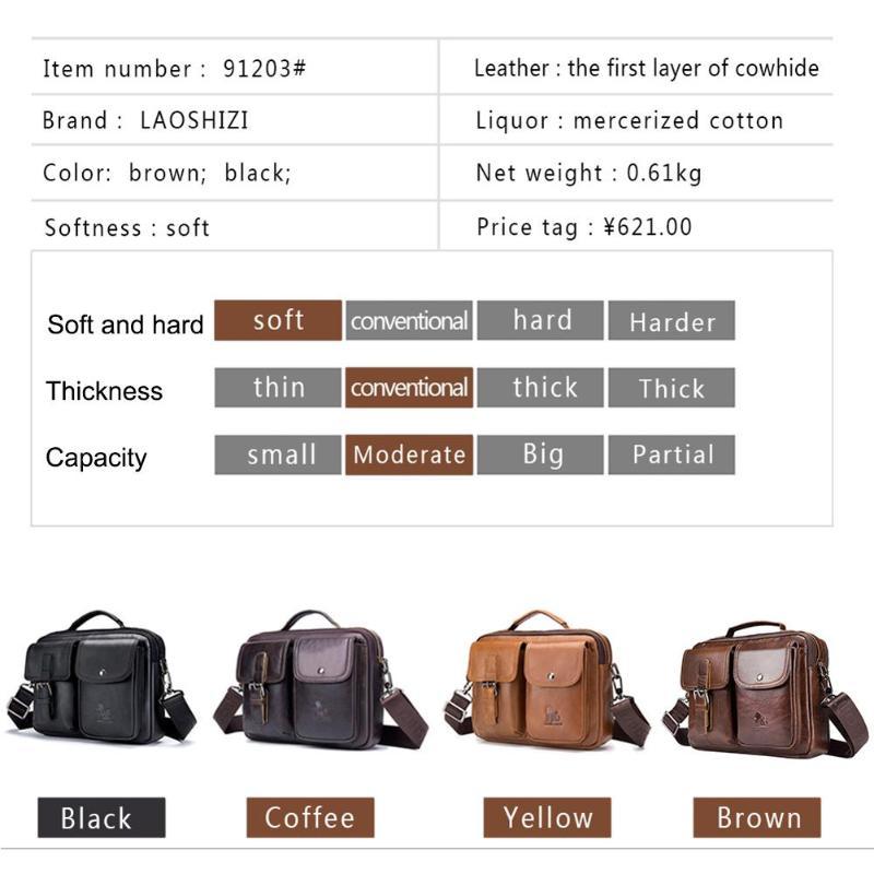 HTB1yngDPSzqK1RjSZFHq6z3CpXaq Men Business Briefcase Vintage Genuine Leather Laptop Messenger Bag Cowhide Big Capacity Tote Office Handbag Men Briefcase