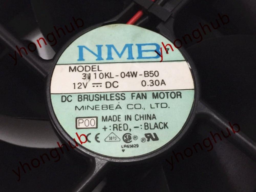 NMB-MAT 3110KL-04W-B50 P00 DC 12V 0.30A 80X80X25mm Server Cooler Fan