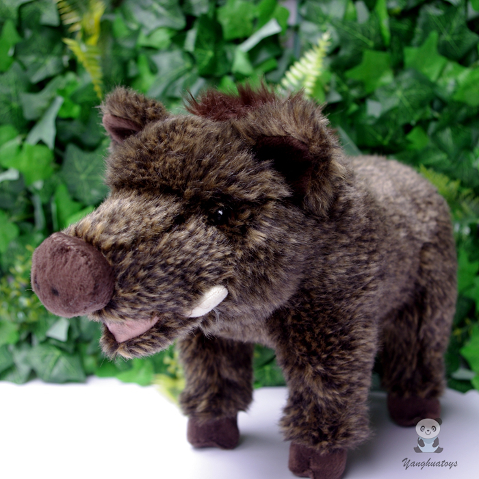 Stuffed Animal Toy Boar Doll  Simulation Wild  Cute Pig Dolls Plush Toys For Children Birthday Gifts stuffed wild doll toys african wolf spotted hyenas simulation animals plush toy children dolls rare