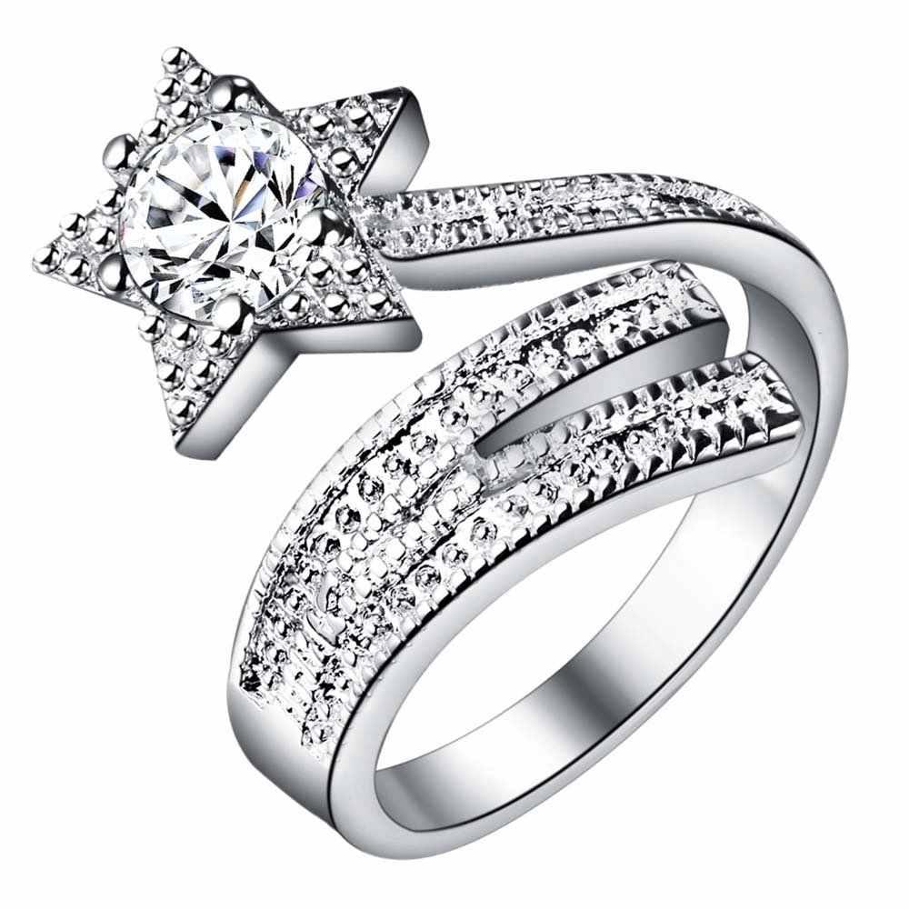 Звезда регулируется Элегантный Оптовая 925 ювелирные изделия с серебряным покрытием кольцо, ювелирные изделия кольцо для Для женщин,/fuiscszc pifylyvz