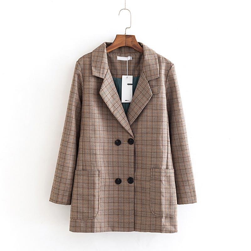 B2 Autumn Casual Women Blazers Jacket 5XL Plus Size Women Clothing Fashion England Style Coats B884
