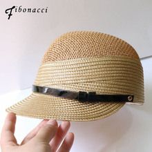 Fibonacci High Quality Fashion Straw Knight Hats Summer Women Fedora Hat Equestrian Cap