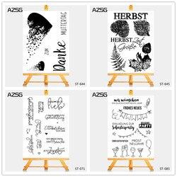 AZSG Gebrochen herz Deutsch stil Klar Briefmarken für DIY Scrapbooking/foto Album Dekorative Handwerk Klar Stempel Chapte