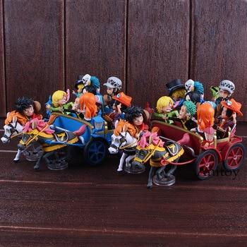 One Piece Figure 20th Anniversary Luffy Nami Zoro Sanji Chopper Ace Sabo Trafalgar Law Hancock Carriage Ver. Figure Toys Set