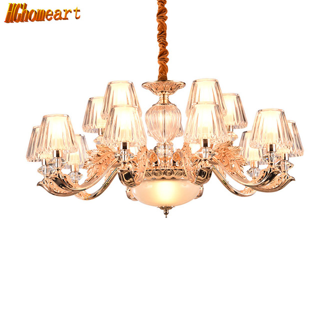 Hghomeart Retro Modern Nursery Chandelier Led Luxury Chandeliers Re Suspension Gold Crystal Lamp Home Lighting 110v
