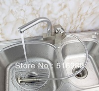 360 Degree Swivel Kitchen Tap Faucet Pull Out Chrome Polished Basin Mixer Brass Tree5