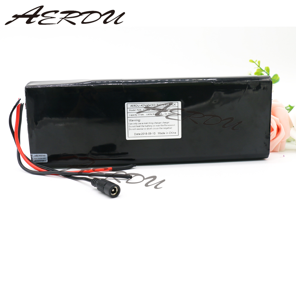AERDU 7S5P 24V 17.5ah 29.4V FOR NCR18650GA Lithium-ion battery pack Built-in BMS electric bike unicycle scooter wheelchair motorAERDU 7S5P 24V 17.5ah 29.4V FOR NCR18650GA Lithium-ion battery pack Built-in BMS electric bike unicycle scooter wheelchair motor