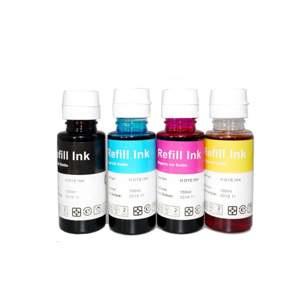 YLC 400ml colors compatible dye Ink refill kit for HP655 178 300 Ink Advantage 5820 3525 4615 4625 5525 6520 6525 printer multi functional intramuscular injection training pad