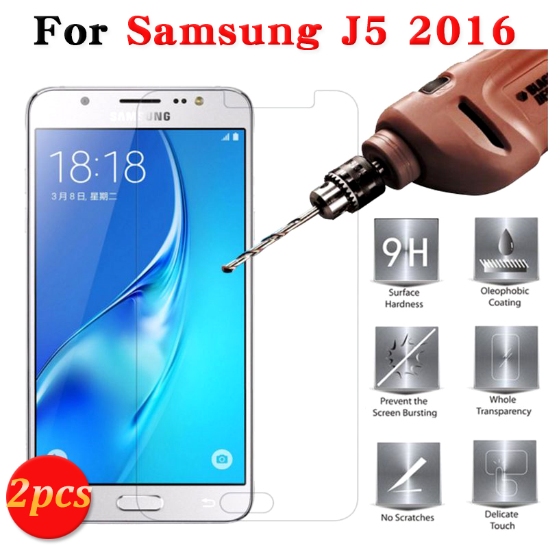 2pcs 9H Tempered Glass Screen Protector For Samsung Galaxy J5 2016 J500H Case For Samsung Galaxy J 5 2016 Protective Films Cover