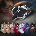LUOM G10 4000 DPI 10 Buttons Optical Mechanical ergonomic Mouse Mause Gamer Wired Mouse for Computer Gaming Mouse iron man
