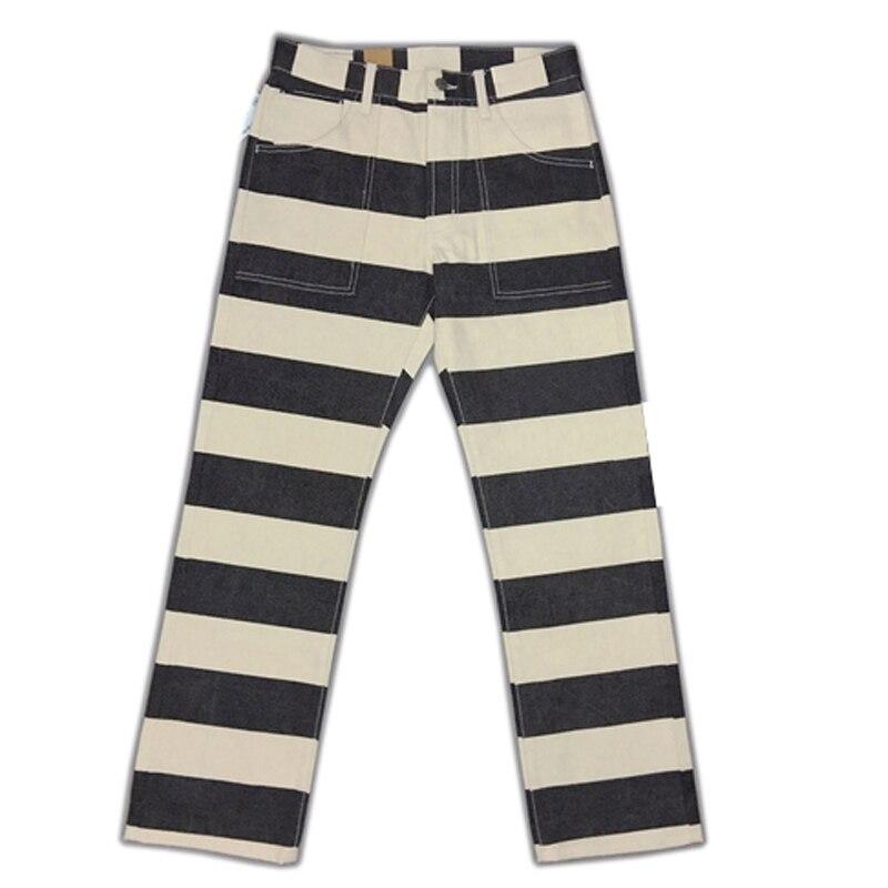 BOB DONG 20oz Stripes Pants Motorcycle Trousers
