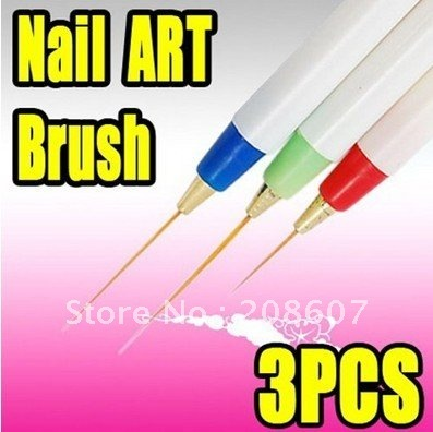 2011 Nail Art Product Nail Art Tool Nail Art Acrylic Brush Pen Paint Liner Drawing Wholesales Price Freeshipping