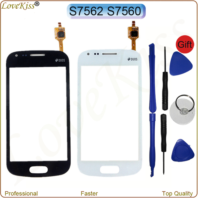 Front Panel Digitizer For Samsung Galaxy S Duos S7562 GT-S7562 Trend S7560 7562 7560 Touch Screen Sensor LCD Display Glass Lens