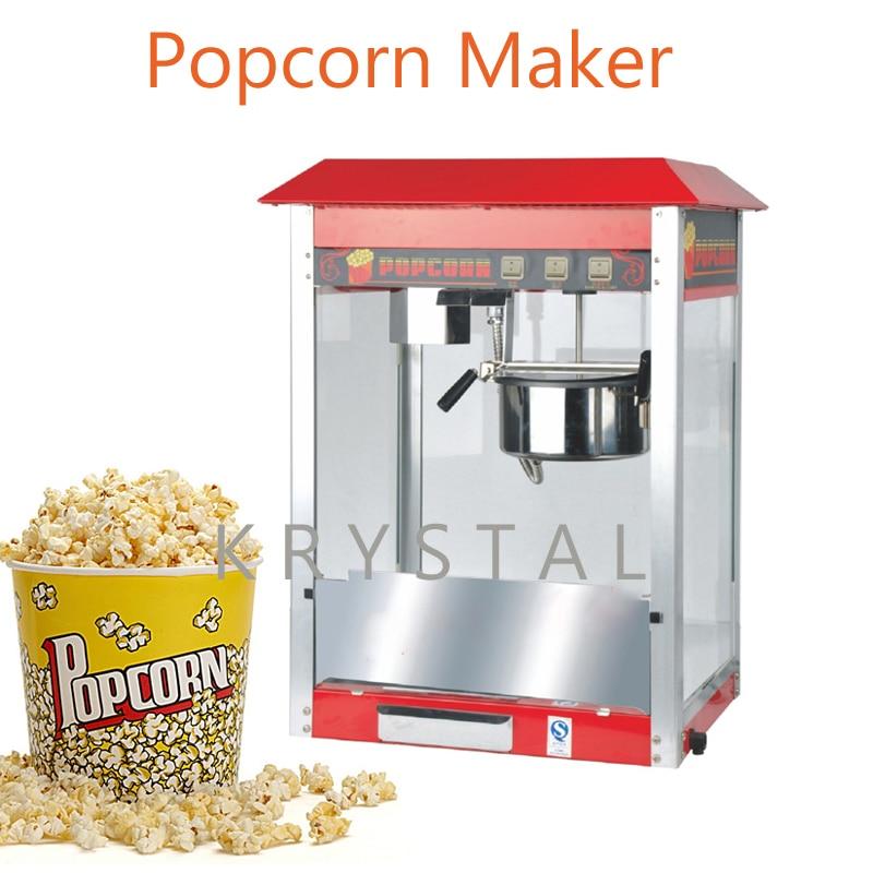 Electric Popcorn Making Machine 110v/ 220v Commercial Popcorn Maker FY-06A 10oz stainless steel 110v 220v electric commercial popcorn machine with temperature control