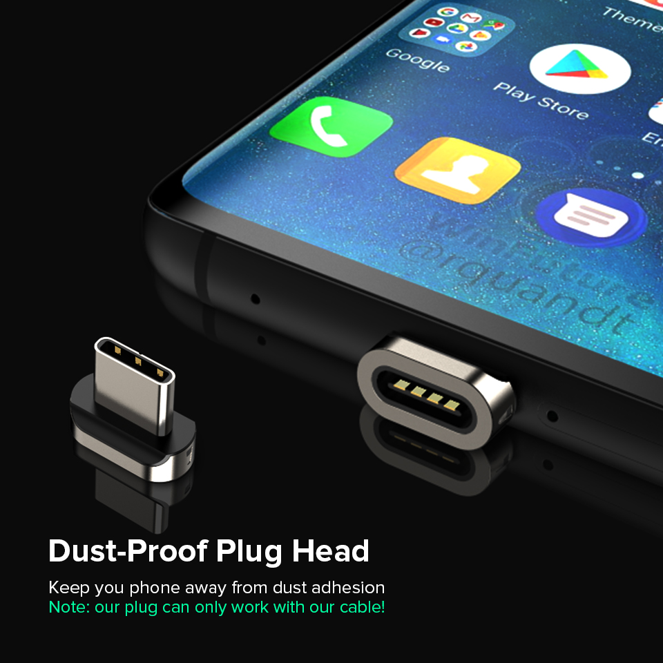 Venroii Magnetic Cable USB Type C Kable Xiaomi Mi 8 A2 Lite 3A Fast  Charging Magnet Phone Charger Cord for Samsung S8 Huawei P20