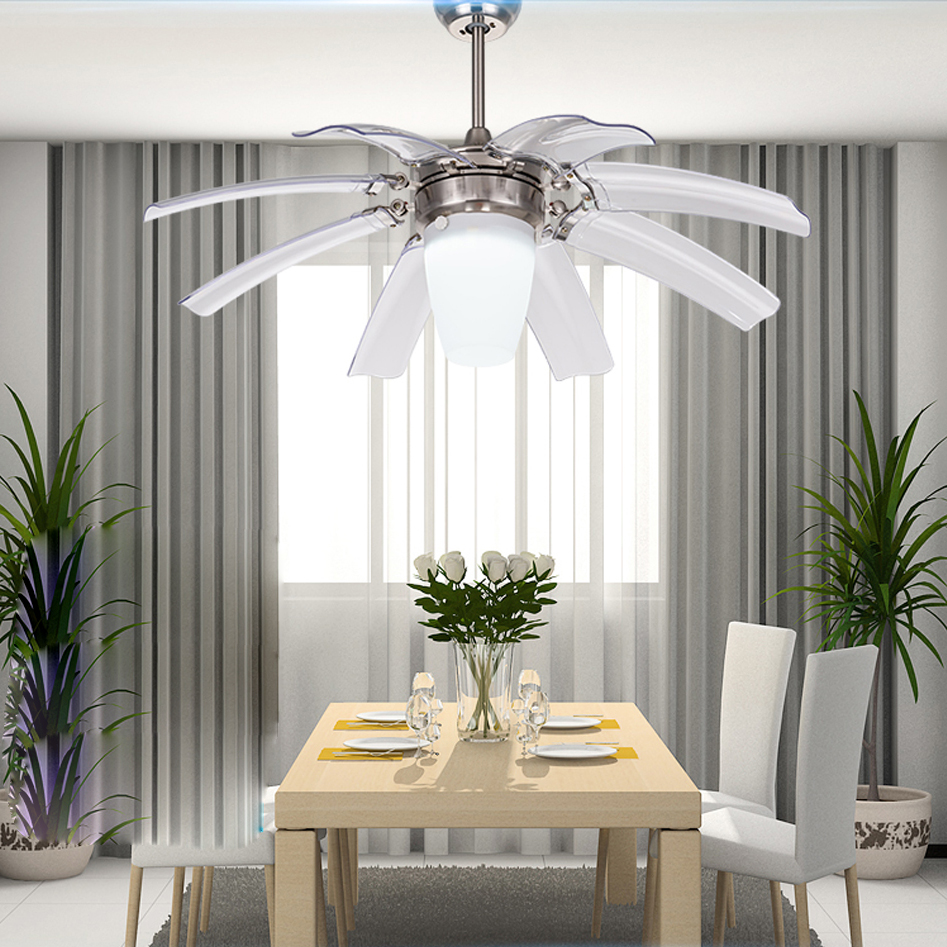compare prices on chrome ceiling fan online shopping buy low led modern zinc alloy acryl ceiling fan led lamp led light ceiling lights