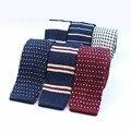 Hombres Ocio Rayas de Punto de Punto Corbata Flaca Estrecha Delgada Ties Moda Para Hombre Flaco Corbata Tejida Diseñador No.1-20