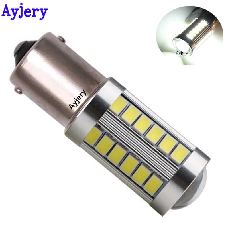 AYJERY 4 S25 P21W 1156 BA15S 5630 33SMD 5730 LED Cao Cấp cho Xe Hơi Bóng Đèn LED 33 LED Trắng DC 12V 24V Tự Động Đuôi Đèn Phanh
