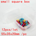Small Square Box 55x35x20mm Storage Box Tool Box Perfect For Fishing Medicine Beauty Storage Use High Qquality