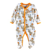 hot deal buy newborn baby rompers autumn winter package feet baby clothes polar fleece infant overalls baby boy girl jumpsuits clothing set