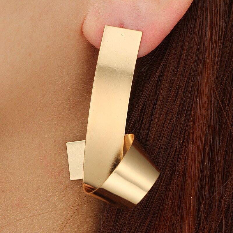 Trendy Irregular Geometric Earrings for Women Alloy statement Earrings 2018 Big modern Earrings vintage art  Jewelry