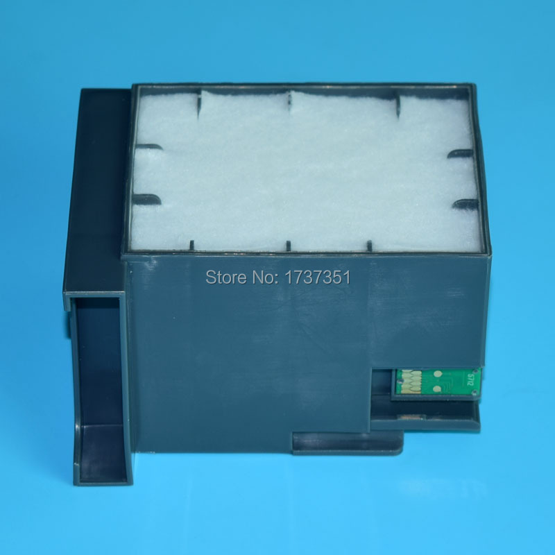 maintenance box for Epson T6712 waste ink tank with chip for Epson WorkForce Pro WP-8010 8090 8510 8590 printer waste ink tank chip resetter for epson 9700 7700 7710 9710 printers maintenance tank chip reset