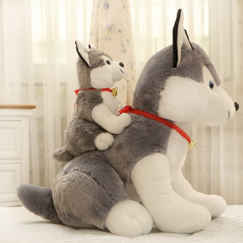 1pc 35/50/70cm 1 Pattern Husky Dog Plush Toy Puppy Pillow stuffed animal simulation High-quality Fabrics Feel Smooth Kid's Gifts