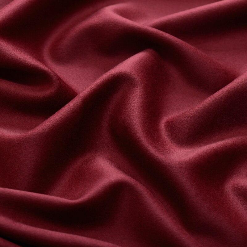 Offre spéciale limitée mode Martha la vin rouge double face haut de gamme cachemire laine tissu pour manteau tissu au mètre lumineux tissu bricolage